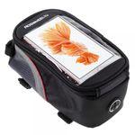 """Roswheel Fahrrad Tasche mit touchfähigem Fenster für 5.5"""" Zoll Smartphones - rot/schwarz"""