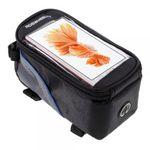 """Roswheel Fahrrad Tasche mit touchfähigem Fenster für 5.5"""" Zoll Smartphones - blau/schwarz"""