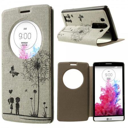 LG G3S Leicht parfümiertes Leder Case Handy Hülle mit verknallten Kindern und Löwenzahn