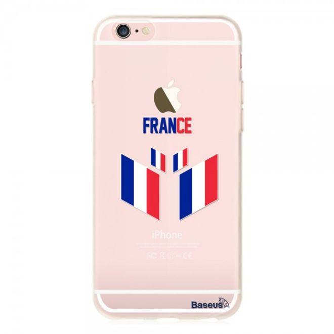 Baseus iPhone 6/6S Baseus Flag Series Elastische Plastik Cover Hülle mit Frankreich Flagge