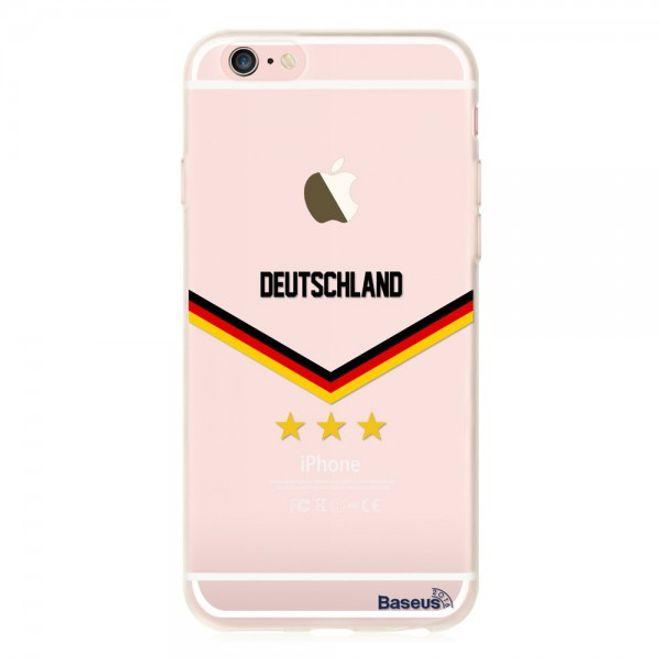 Baseus iPhone 6/6S Baseus Flag Series Elastische Plastik Cover Hülle mit Deutschland Flagge