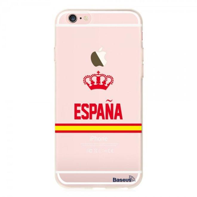 Baseus iPhone 6 Plus/6S Plus Baseus Flag Series Elastische Plastik Cover Hülle mit Spanien Flagge