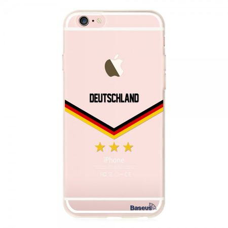 iPhone 6 Plus/6S Plus Baseus Flag Series Elastische Plastik Cover Hülle mit Deutschland Flagge
