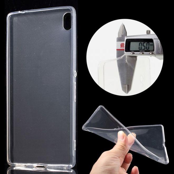 Sony Xperia XA Ultra Ultradünne, elastische Plastik Cover Handy Hülle - transparent
