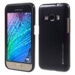 Goospery - Samsung Galaxy J1 (2016) Handy Hülle - TPU Soft Case - i Jelly Metal Series - navy