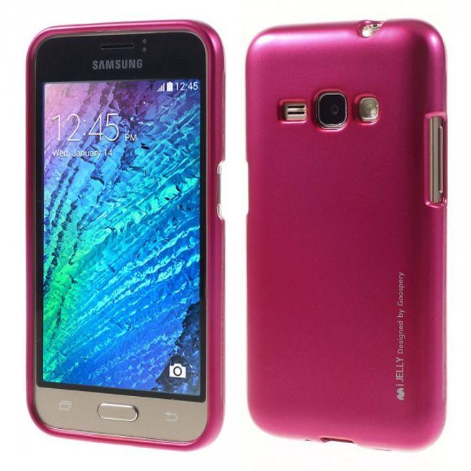 Goospery Samsung Galaxy J1 (2016 Edition) Mercury Goospery Elastische Plastik Case Handyhülle - rosa