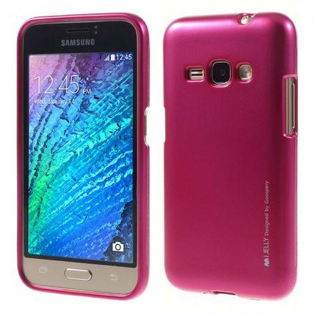 Samsung Galaxy J1 (2016 Edition) Mercury Goospery Elastische Plastik Case Handyhülle - rosa
