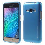Goospery - Samsung Galaxy J1 (2016) Handy Hülle - TPU Soft Case - i Jelly Metal Series - blau