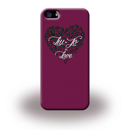 iPhone SE/5S/5 Liu Jo Hart Plastik Cover Hülle mit grossem Herz - pink