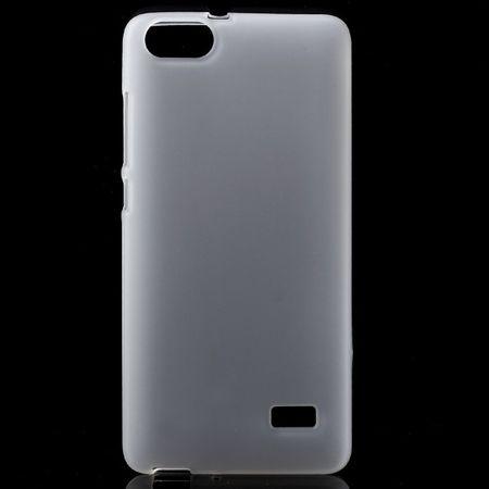 Huawei Honor 4C Matte, elastische Plastik Cover Hülle - weiss