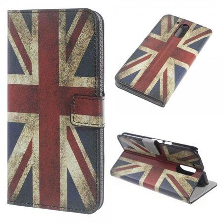 Motorola Moto G4/G4 Plus Leder Case Handy Hülle mit UK Flagge im Retrolook