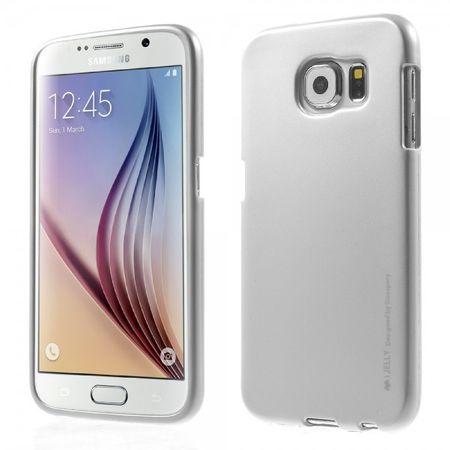 Samsung Galaxy S6 Mercury Goospery Elastische Plastik Cover Handyhülle im Metallic Look - silber