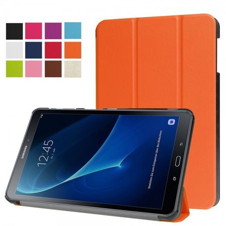 Samsung Galaxy Tab A 10.1 (2016 Edition) Dreifach faltbare Leder Smart Case Hülle - orange