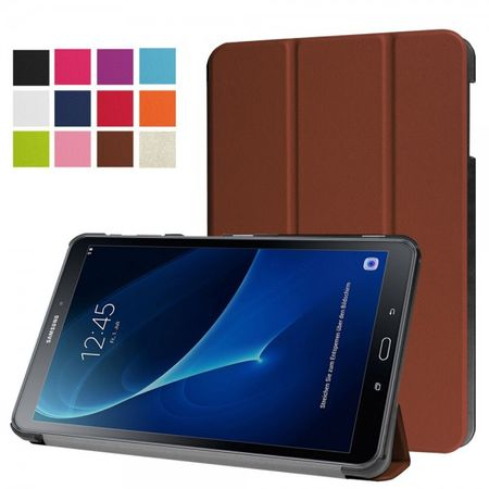 Samsung Galaxy Tab A 10.1 (2016) Dreifach faltbare Leder Smart Case Hülle - braun