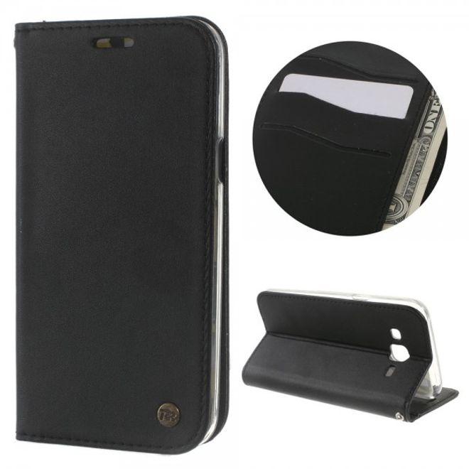 Roar Samsung Galaxy J5 Roar Korea Only One Series Leder Flip Case Hülle mit Standfunktion - schwarz