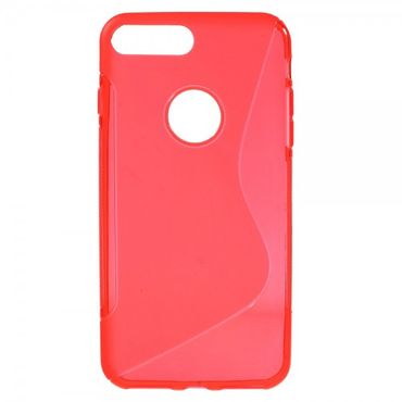 iPhone 8 Plus / 7 Plus Elastische Plastik Case Hülle S-Shape - rot