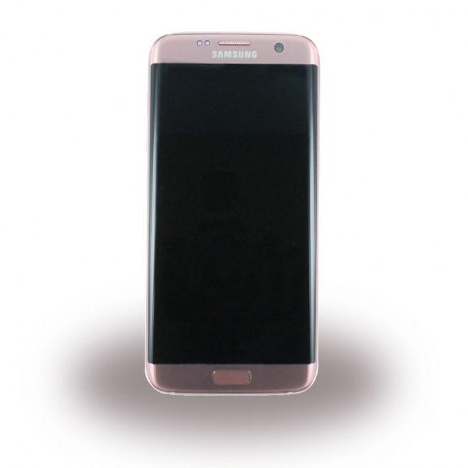 Samsung Samsung Galaxy S7 Edge Original LCD Display und Touchscreen Ersatzteil (GH97-18533E) - rosegold