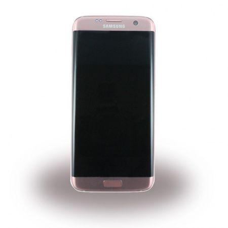 Samsung Galaxy S7 Edge Original LCD Display und Touchscreen Ersatzteil (GH97-18533E) - rosegold