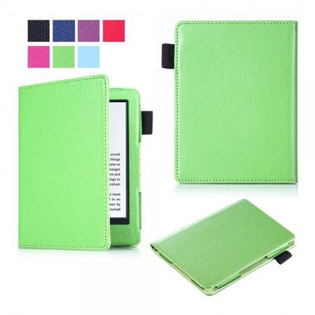 Amazon New Kindle 2016 Schlanke Leder Flip Case Tablet Hülle mit Litchitextur - grün