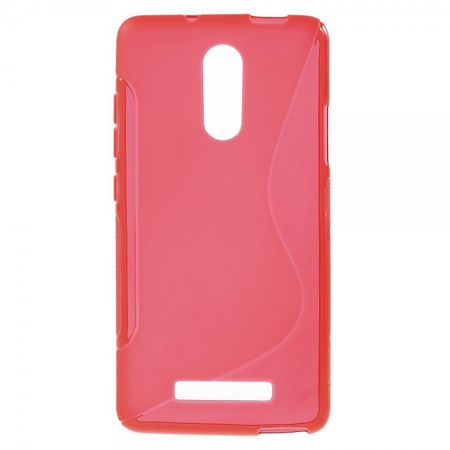 Xiaomi Redmi Note 3 Elastische Plastik Case Hülle S-Shape - rot