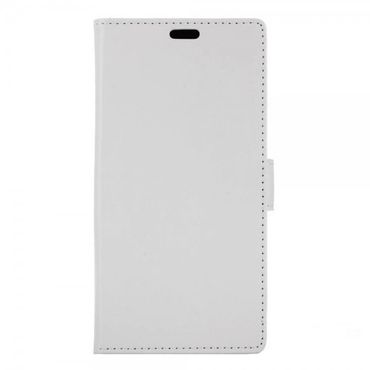 Alcatel OneTouch Pop 4S Schicke Crazy Horse Leder Case Hülle mit Standfunktion - weiss