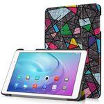 Huawei MediaPad T2 10.0 Pro Dreifach faltbare Leder Flip Case Hülle mit abstraktem Muster
