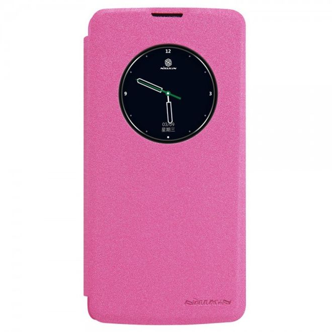 Nillkin Nillkin - LG K8 Leder Smart Case mit Fenster - Sparkle View Series - rosa