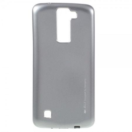 Goospery - LG K8 Handy Hülle - TPU Soft Case - i Jelly Metal Series - silber