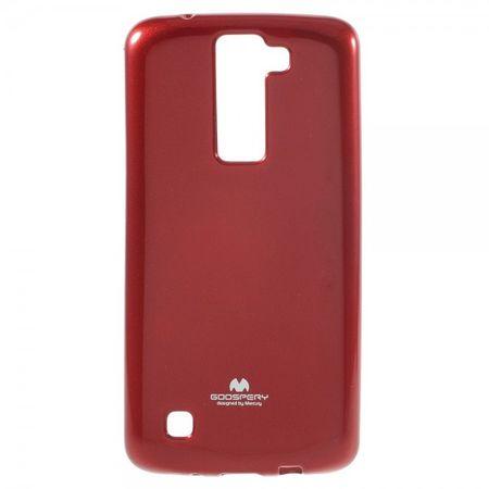 Mercury Goospery - LG K8 Handy Hülle - Case aus elastischem Plastik - Pearl Jelly Series - rot