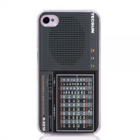 iPhone 4/4S Hart Plastik Case Handyhülle mit Tecson R-2010 Radio