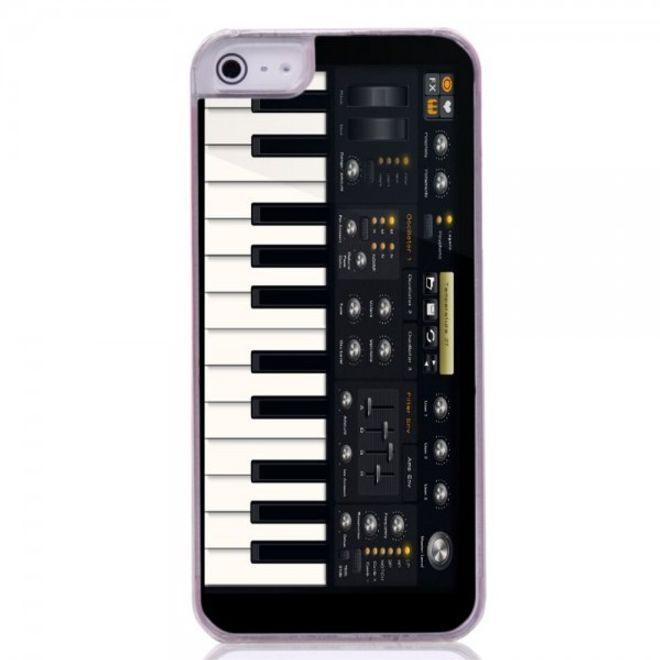 iPhone SE/5S/5 Hart Plastik Case Handyhülle mit elektronischem Klavier
