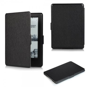 Amazon All-New Kindle Schicke Leder Smart Case Hülle mit Kreuzmuster - schwarz
