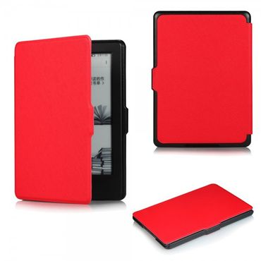 Amazon All-New Kindle Schicke Leder Smart Case Hülle mit Kreuzmuster - rot
