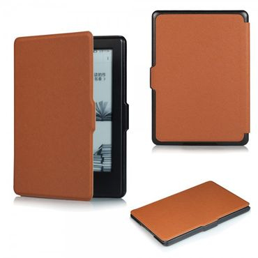 Amazon All-New Kindle Schicke Leder Smart Case Hülle mit Kreuzmuster - braun