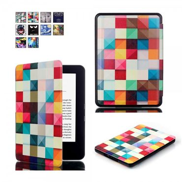 Amazon All-New Kindle Leder Smart Flip Case Hülle mit geometrischen 3D Figuren