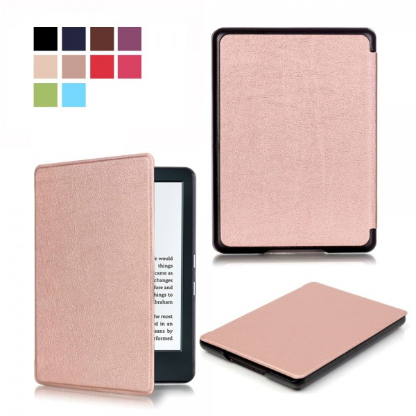Amazon All-New Kindle Schlanke Leder Smart Cover Hülle - rosagold