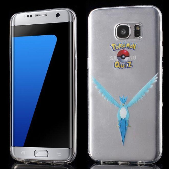Samsung Galaxy S7 Edge Elastische, dünne Plastik Cover Gummihülle mit Pokemon Arktos