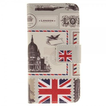Case für iPhone 7 - Hülle aus Leder - London