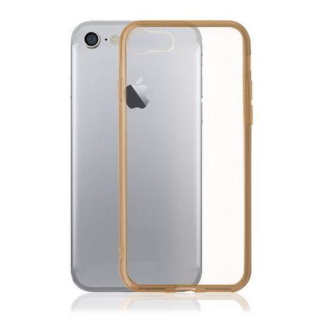 iPhone 8 / 7 Okkes Air Plus Plastik Case Hülle mit elastischen Kanten - gold