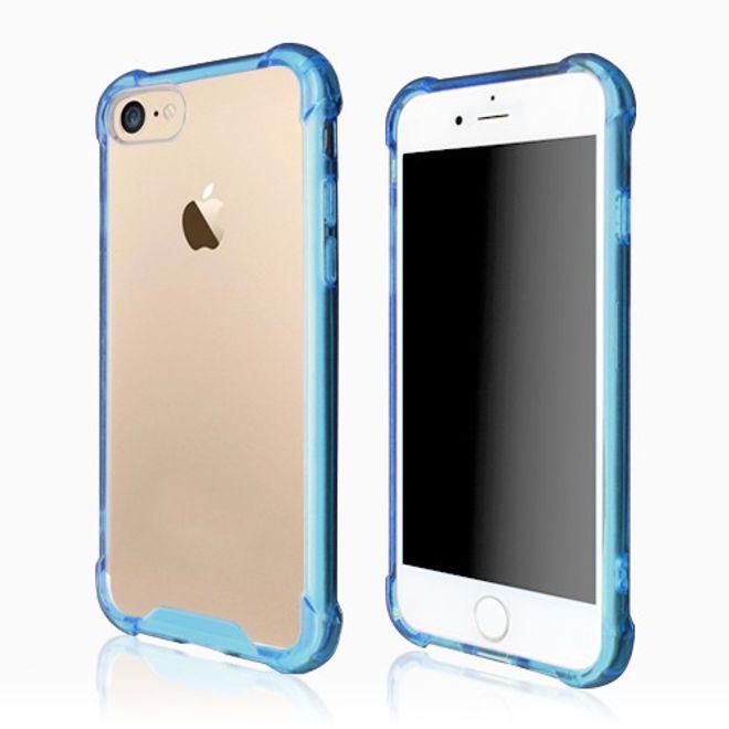 Okkes iPhone 8 / 7 Okkes Jump Elastische Antishock Plastik Case Hülle - blau