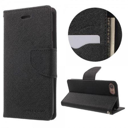 Mercury Goospery - Case für iPhone 8 / 7 - Handyhülle aus Leder - Fancy Diary Series - schwarz