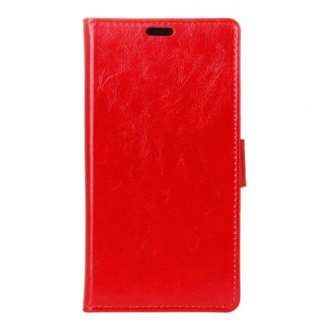 Handyhülle für iPhone 8 / 7 - Case aus Leder - Crazy Horse Textur - mit Standfunktion - rot