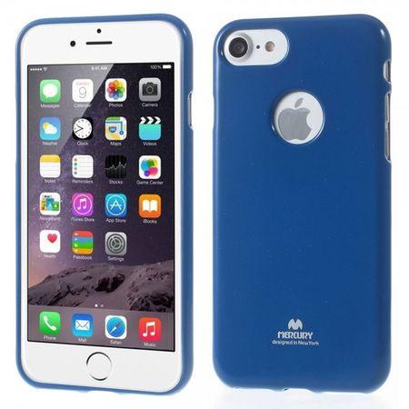 Newsets Mercury - iPhone 8 / 7 Case - Handyhülle aus elastischem Plastik, leicht glänzend - Flash Powder - dunkelblau