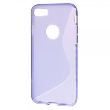 iPhone 7 Cover - Handyhülle aus elastische Plastik - S-Shape - purpur