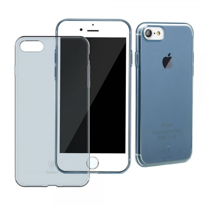Baseus Baseus - iPhone 8 / 7 Case - Handyhülle aus elastischem Plastik - Simple Series - blau