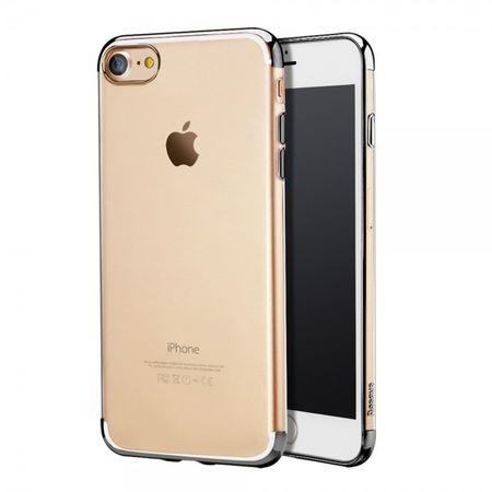 Baseus - Handyhülle für iPhone 8 / 7 - Cover aus elastischem Plastik - Electroplated Series - schwarz
