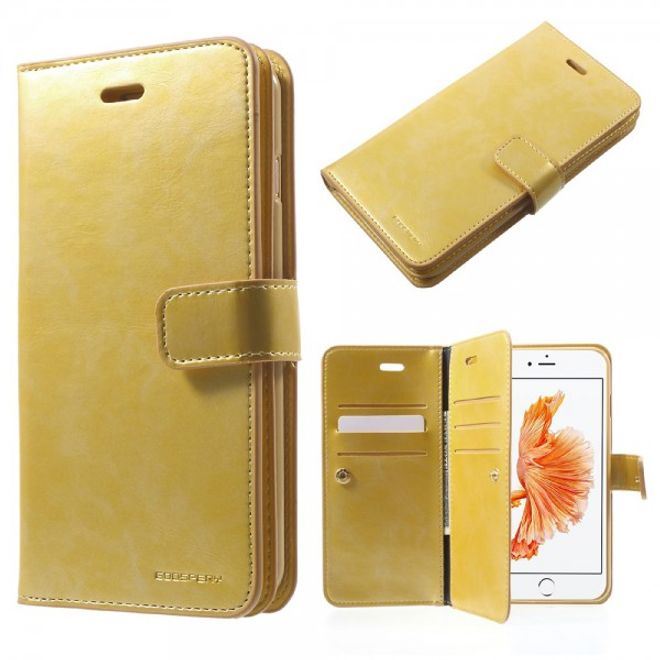 Goospery Mercury Goospery - iPhone 8 Plus / 7 Plus Cover - Handyhülle aus Leder - Mansoor Series - gold