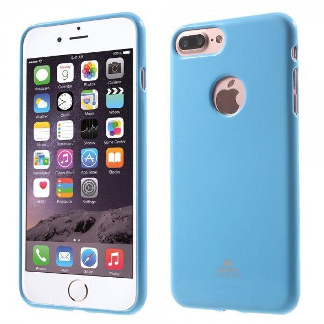 Newsets Newsets Mercury - iPhone 8 Plus / 7 Plus Case - Handyhülle aus elastischem Plastik - leicht glänzend - hellblau
