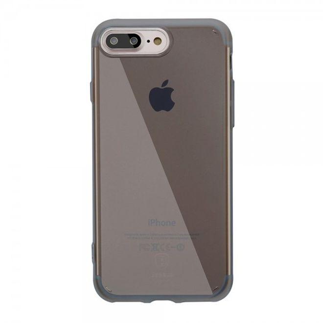 Baseus Baseus - Cover für iPhone 8 Plus / 7 Plus - Hülle aus elastischem Plastik - Simple Series - mit kratzfester Beschichtung - schwarz
