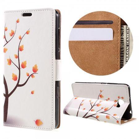 Huawei Y6 II Compact Case - Handyhülle aus Leder - herbstlicher Baum